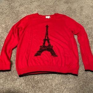 Women's Elle Eiffel Towel Crew Neck Sweater